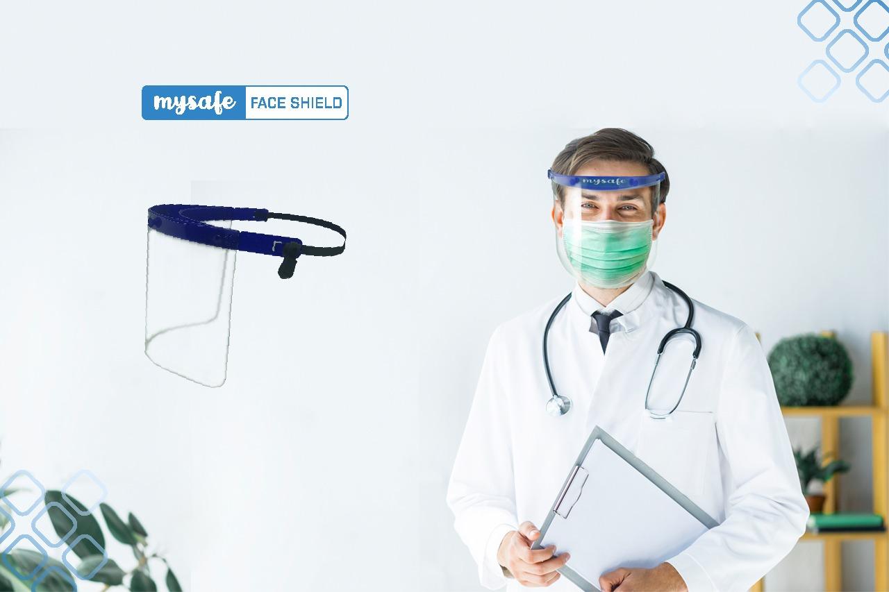 mysafe face shield, produk alat kesehatan, mysafe, mysafe indonesia